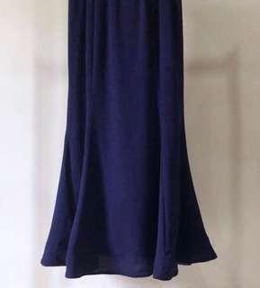 Navy Blue Horsehair Skirts