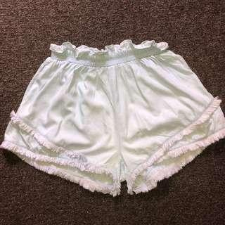 Princess Polly fringe shorts size 10
