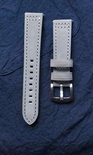 Grey Suede 20mm Leather watch strap