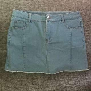 Light Blue Jeans Skirts (with Postage)