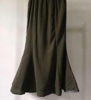 Army Green Horsehair Skirts