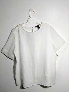 Forever21 White Shear Shirt