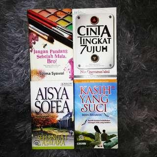 USED MALAY NOVEL (4 BOOKS RM 35)