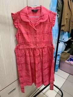 🚚 古著 韓國制洋裝 顯白 vintage
