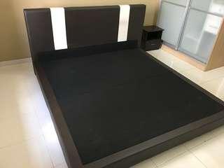 King Bed Frame / King Divan / King Head , free 1 side table