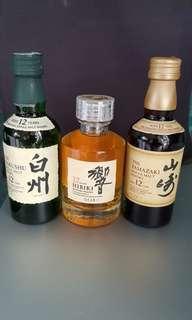 日本威士忌50ml(單一支$200)