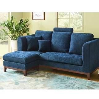 北歐三人布藝梳化沙發組合日式客廳多功能可拆洗轉角布沙發梳化