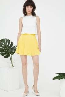 BN Fashmob Robyn Pleated Skirt in Yellow