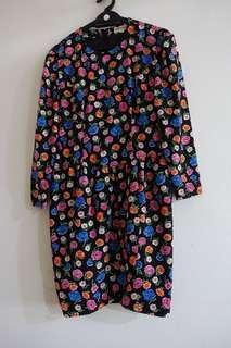 Multicolor flowers Vintage Dress