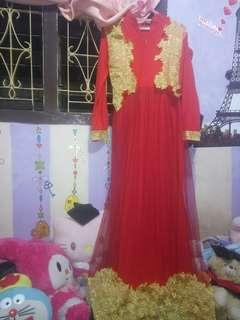 Dress tile brokat mewah