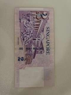 Singapore $2 notes