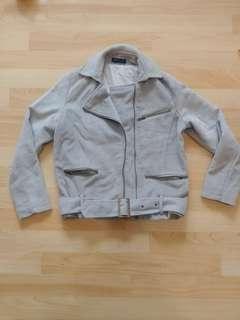 🚚 灰色短版夾克外套