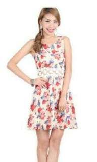 Ohvola unworn new floral dress L size