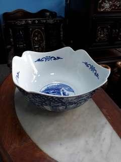 Chinese blue bowl.