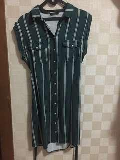 Cotton On Green Stripes Dress