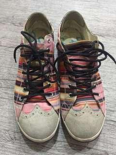 🚚 Paul Smith 彩虹🌈便鞋帆布鞋 平底鞋uk10
