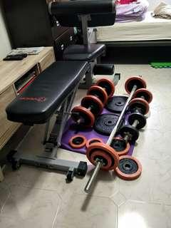 Gym equipment set for sales (strictly no nego)