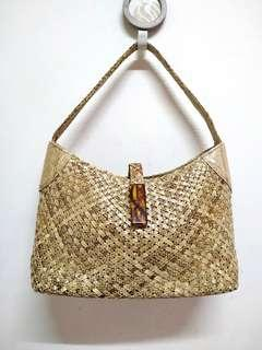 Montowa Genuine Weave Snakeskin Shoulder/ Handbag
