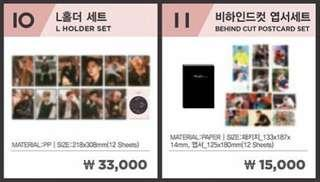 Wanna One Therefore Final Concert Official Merch