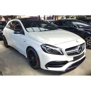 MERCEDES-BENZ A45 2.0 AMG EDITION PACKAGE PANORAMIC ROOF HARMAN KARDON FACELIFT MODEL (A) UNREG 2016