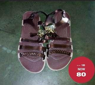 Plastic Brown Sandals