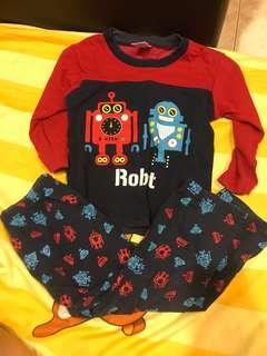 Pyjamas robot 1y-2y