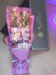 Instock preserved led rose bouquet