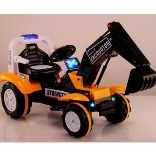 New Strength Excavator Back Hoe Motor Ride On Motorcycle for Kids