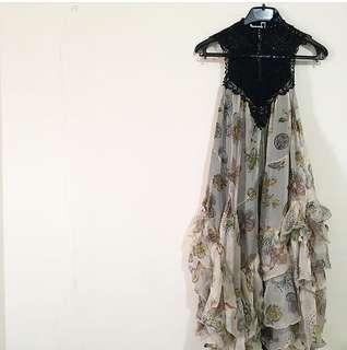 Zara Ruffle Lace Dress