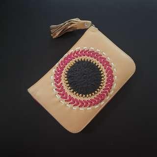 🌸 Leather Travel Wallet #bersihbersih