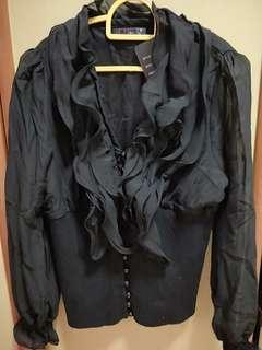 BNWT Ladies retro blouse with bell sleeves