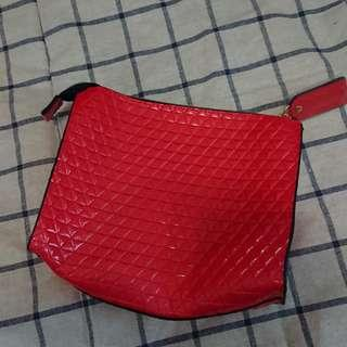 全新 西瓜紅化妝袋 makeup cosmetic bag