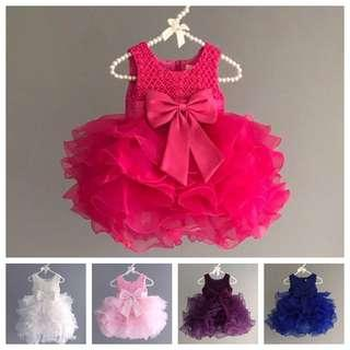 [Mix&Match:3@$98+FREE Gift] LILITH Hot Pink Flower Girl Dress/ Tutu Dress/ Birthday Dress/ Formal Dress/ Gown/ Frock/ Party Dress for Baby/ Toddler/ Girl/ 9mo, 1,2,3,4,5,6yo/ Chinese New Year/ Hari Raya/ Christmas [SC3050Y75N3200R3390]