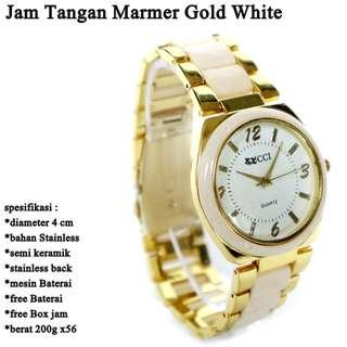 jam Stainless Marmer Gold White