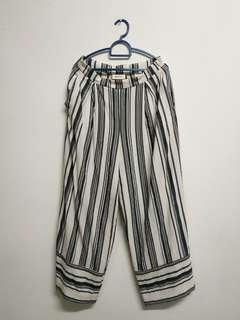 Monki Striped Cotton Trousers