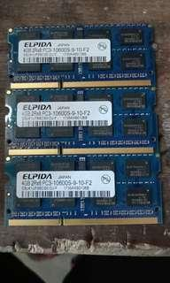 Ram Laptop SODIMM 4GB DDR3 10600S