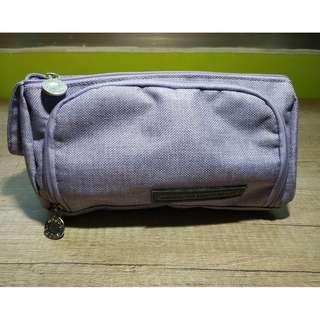大容量開窗筆帶(紫色) 布質文具袋 鉛筆盒 鉛筆袋 學生文具用品 化妝包 容量大 原購買價169 特價120出清