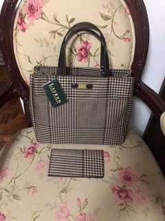 Ralph Lauren tote bag w/ wallet