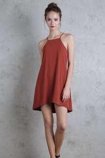 TTR Lovina Laced Up Dress (Rust)