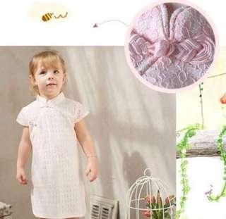 🚚 【BABYWEAR】【CLOTHING】【GIRL】CNY08 BABY TODDLER CHILDREN GIRL CNY MODERN LIGHT PINK CHEONGSAM QIPAO DRESS 🍊