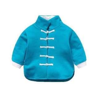 🚚 【BABYWEAR】【CLOTHING】【BOY】【CNY】CNY209 CHILDREN BABY BOY CNY CHEONGSAM BLUE LONG SLEEVES TOP & PANT A SET