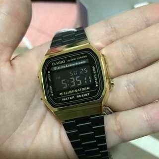 Casio A168 (Black Gold)