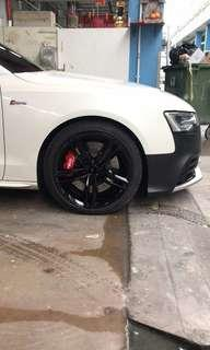 Audi S5 B8 stock suspension