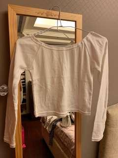 🚚 平口棉上衣 白