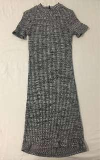 Black and Grey Bodycon Dress