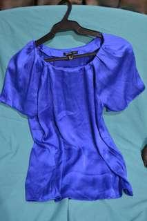 Mango Royal Blue Blouse