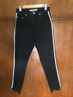 High Waist Pants with Side Stripes (Track Pants)