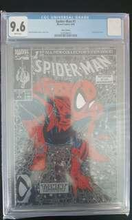 Spider-man #1(Silver,Polybag) CGC 9.6 (1990) Todd McFarlane At His Best! Totally Iconic Book!