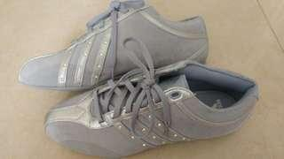 Adidas silver suede for women