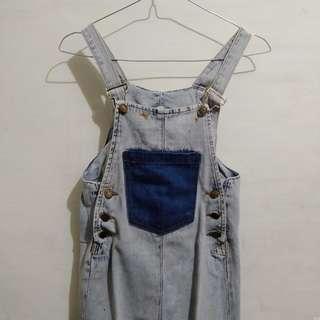Jeans skirt overall // rok kodok jeans